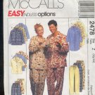 Sewing Pattern McCall's 2478 Mix and match pajamas for men and women 42-48