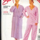 Sewing Pattern McCall's Pajamas and Robe 3004 Easy Size 18W-24W