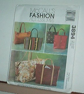 Sewing Pattern McCall's 3894 Fashion bags and totes, 6 styles, really nice.