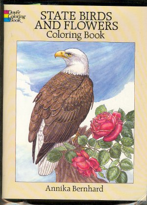 Book - Paper Dolls  STATE BIRDS AND FLOWERS  by Annika Bernhard  - homeschool.0486264564