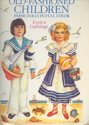 "Book - Coloring Book - Old Fashioned Children by Evelyn Gathings 10"" 0486261239"
