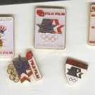 Pin - Collector Pins - Olympic Games 1984 Los Angeles - Fuji Film 5 each