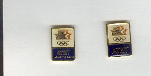 Pin - Collector Pins - Olympic Games 1984 Los Angeles -  AT&T