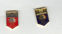 Pin - Collector Pins - Olympic Games 1984 Los Angeles - 2 pins - Motorola