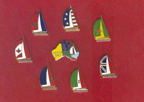Pin - Collector Pins - America's Cup Sailing Race, Perth Australia