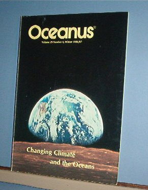 Magazine  - Vintage - OCEANUS Oceanography Climate Change Winter 1986/87 Vol 29 #4