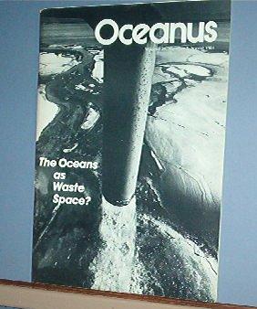 Magazine Ships Free in US  Vintage OCEANUS Oceanography Waste Sprin 1981 Vol 24 #1