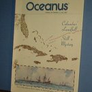 Magazine Ships Free in US  Vintage OCEANUS Oceanography Columbus Fall 1987 Vol 30 #3