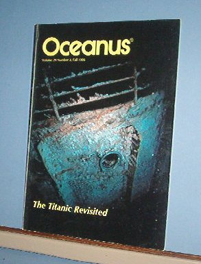 Magazine Ships Free in US  Vintage OCEANUS Oceanography Titanic Fall 1986 Vol 29 #3