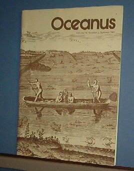 Magazine Ships Free in US  Vintage OCEANUS Oceanography Archaeology Summer 1981 Vol 24 #2