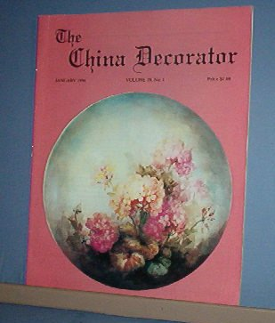 Magazine THE CHINA DECORATOR Free Ship in US Porcelain Painting January 1994