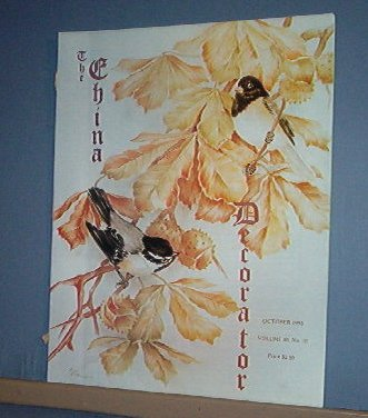 Magazine THE CHINA DECORATOR Free Ship in US Porcelain Painting October 1995