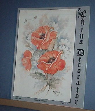 Magazine THE CHINA DECORATOR Free Ship in US Porcelain Painting July 1995