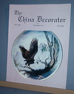 Magazine THE CHINA DECORATOR Free Ship in US Porcelain Painting July 1996
