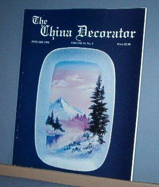 Magazine THE CHINA DECORATOR Free Ship in US Porcelain Painting January 1996