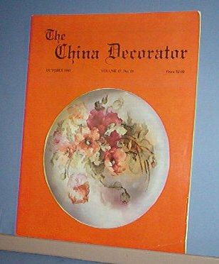 Magazine THE CHINA DECORATOR Free Ship in US Porcelain Painting October 1992