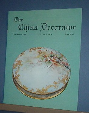 Magazine THE CHINA DECORATOR Free Ship in US Porcelain Painting September 1993