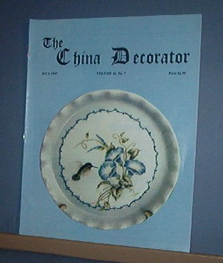 Magazine THE CHINA DECORATOR Free Ship in US Porcelain Painting July 1997