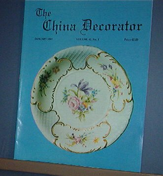 Magazine THE CHINA DECORATOR Free Ship in US Porcelain Painting January 1997