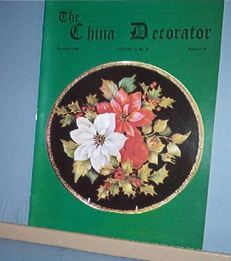 Magazine THE CHINA DECORATOR Free Ship in US Porcelain Painting December 1998