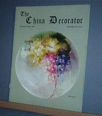 Magazine THE CHINA DECORATOR Free Ship in US Porcelain Painting Sep/Oct 1999