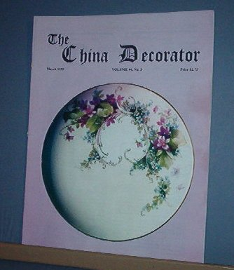 Magazine THE CHINA DECORATOR Free Ship in US Porcelain Painting March 1999