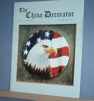 Magazine THE CHINA DECORATOR Free Ship in US Porcelain Painting  July August 2003