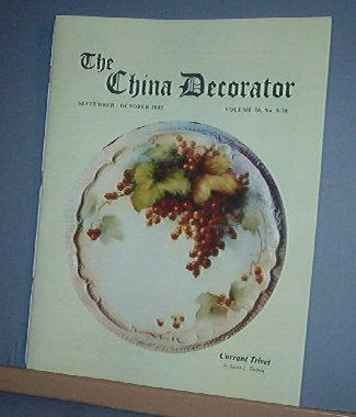 Magazine THE CHINA DECORATOR Free Ship in US Porcelain Painting September October 2005