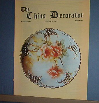 Magazine THE CHINA DECORATOR Free Ship in US Porcelain Painting September 1997