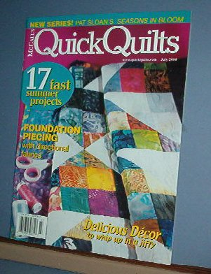 Magazine - McCall's Quick Quilts, 17 fast projects July 2004