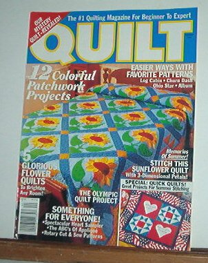 Magazine - Quilt  12 patchwork projects, 5 flower quilts Summer 1996