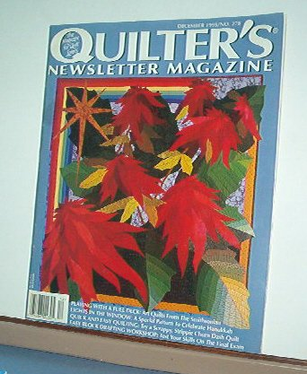 Magazine - Quilter's Newsletter - Quilting, Sewing, Patterns No.278 December 1995