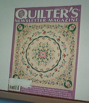 Magazine - Quilter's Newsletter - Quilting, Sewing, Patterns No.273 June 1995