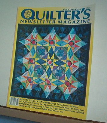 Magazine - Quilter's Newsletter - Quilting, Sewing, Patterns No. 240 March 1992