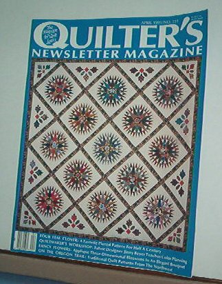 Magazine - Quilter's Newsletter - Quilting, Sewing, Patterns No.231 April 1991