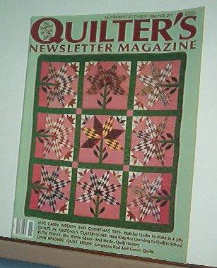 Magazine - Quilter's Newsletter - Quilting, Sewing, Patterns No.207 Nov/Dec 1988