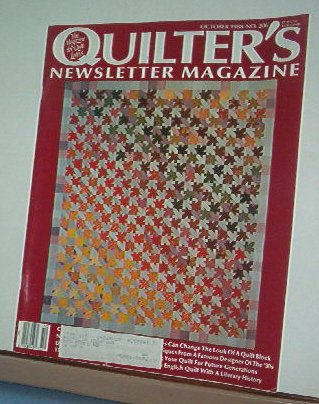 Magazine - Quilter's Newsletter - Quilting, Sewing, Patterns No.206 October 1988