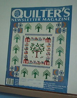 Magazine - Quilter's Newsletter - Quilting, Sewing, Patterns No. 205 September 1988