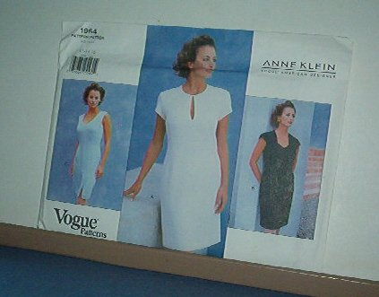 Vogue Sewing Pattern 1964  Anne Klein Classic Summer Dress size 12-16