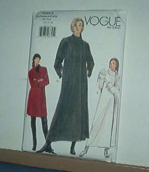 Sewing Pattern Vogue 9953  A-line Coat, Lined, 3 lengths Size 6 - 14