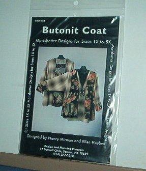 Sewing Pattern Morrisbetter Designs Butonit Coat Sizes 1X - 5X by Nancy Mirman