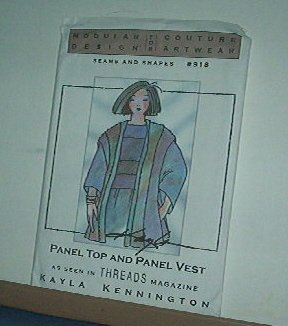 Sewing Modular Design 918 Panel top and Vest by Kayla Kennington bust 30 - 45""