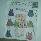 Sewing Pattern McCall's 2650 Jelly Bean Junction Dress Shorts cute pockets Size 2 3 4