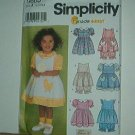 Sewing Pattern Simplicity Child 9605 Dress, pantalooon, cute pockets size 6 most to 4 yrs