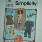 Sewing Pattern Simplicity Child 7089 Stylish dress and rompers Size 2 3 4