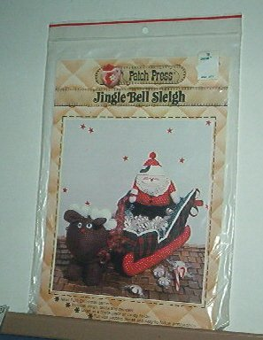 Sewing Pattern Patch Press Jingle Bell Sleigh w Santa