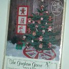 Sewing Pattern Gingham Goose Wall Banner Tree Skirt and ornaments