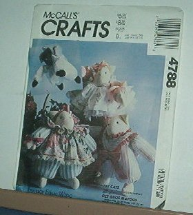"""Sewing Pattern, McCall's 4788 Faye Wine Cats w clothes 16"""""""