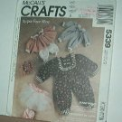 "Sewing Pattern McCall's 5339 Faye Wine Bunny Wraps, Rabbit clothes 25"" 20"" 14"" Cute"