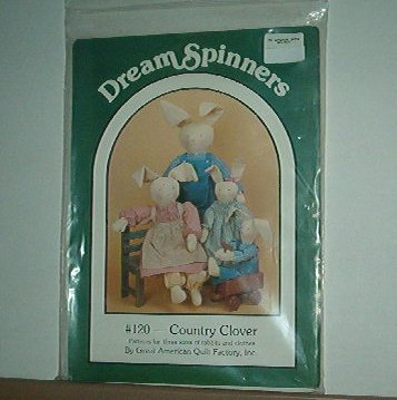 """Sewing Pattern Dream Spinners 120 Country Clover 24"""" 20"""" 13"""" with clothes"""